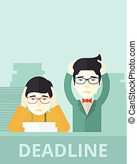 Two stressed asian employees - A two aisan empoloyees is...