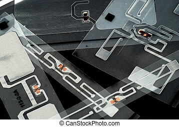 RFID tags - stock pictures of different types of tags for...