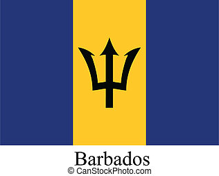 Barbados flag - This image is a vector illustration and can...