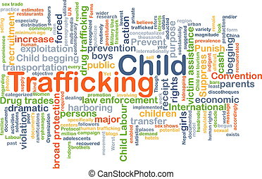 Child trafficking background concept - Background concept...