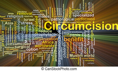 Circumcision background concept glowing - Background concept...