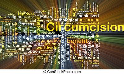 circuncisión, Plano de fondo, concepto, encendido,