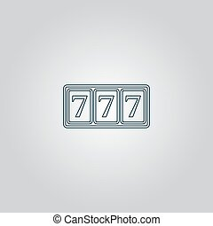 Simple icon 777. - fortune 777. Flat web icon or sign...