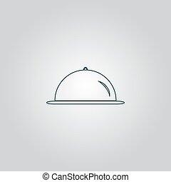 Restaurant cloche icon - Restaurant cloche Flat web icon or...