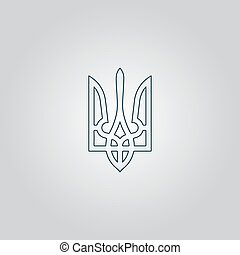 Trident icon, vector illustration - Trident. Flat web icon...