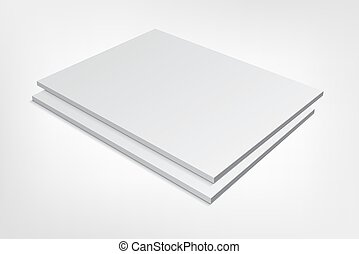 two blank magazine covers on gray background - Couple of...