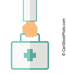Hand Holding First Aid Box - A Hand Holding First Aid Box...