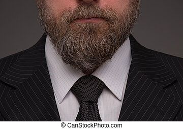 Beard - Close-up portrait of beard of mature businessman on...