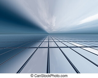 Abstract Business Background - A horizon, vanishing point...