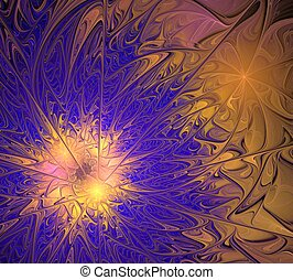 Abstract fractal design - Design made of colorful fractal...