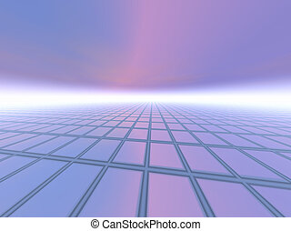 Abstract Business Background - A grid horizon background...