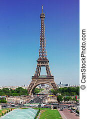 Eiffel Tower and Paris cityscape - Eiffel Tower and Paris...