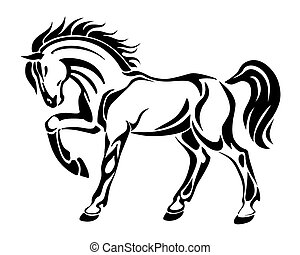 Horse tattoo - stylized vector