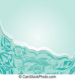 Floral turquoise background