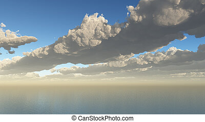 Clouds Sea Aerial