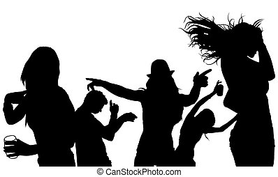 Dancing Crowd Silhouette
