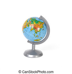 globe isolated on a white