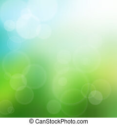 Summer green bokeh background illustration - Summer time...