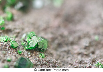 Uvarovite is a chromium-bearing garnet Macro - Uvarovite is...