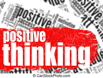 Word cloud positive thinking