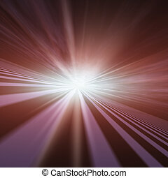 Flash Star Vanishing Point - An abstract illustration...