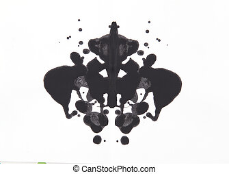 Rorschach test - Abstract symmetric painting, Rorschach test