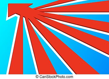 3D Arrows - 3D arrows converge into one arrow, vector art...