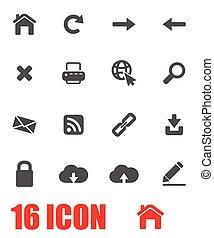 Vector grey web icon set