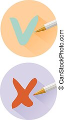 Check mark icons set vector eps 10