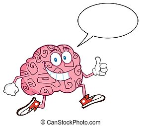 Smiling Brain With Speech Bubble