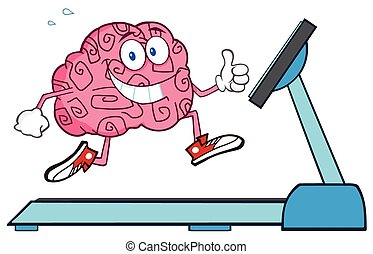 Healthy Brain Running On A Treadmil