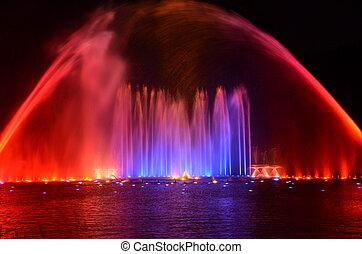 Wasser und Lichtshow - Wasser und Lichtspiele im Park...