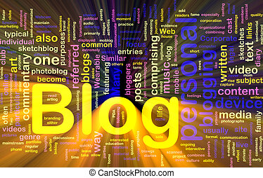 Web blog background concept glowing - Background concept...