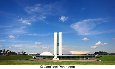 National Congress of Brazil - A time-lapse video of the...