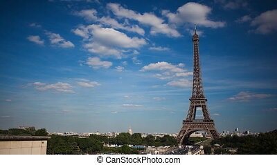Time-Lapse of the Eiffel Tower - A time-lapse video of the...