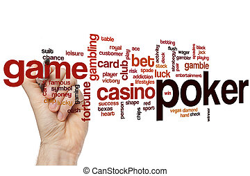 Poker word cloud