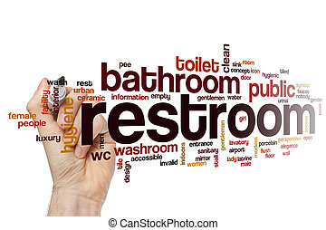 Restroom word cloud concept - Restroom word cloud