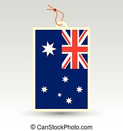 australian price tag - vector simple australian price tag -...