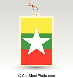burmese price tag - vector simple burmese price tag - symbol...