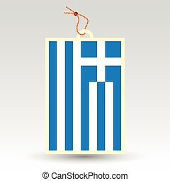 greek price tag - vector simple greek price tag - symbol of...