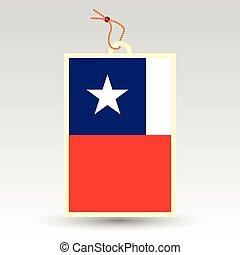 chilean price tag - vector simple chilean price tag - symbol...