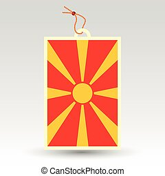 macedonian price tag - vector simple macedonian price tag -...