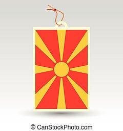 macedonian price tag - vector simple macedonian price tag -...