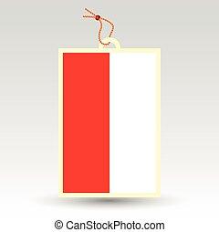 polish price tag - vector simple polish price tag - symbol...