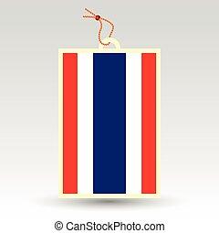 thai price tag - vector simple thai price tag - symbol of...