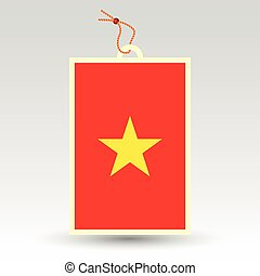vietnamese price tag - vector simple vietnamese price tag -...