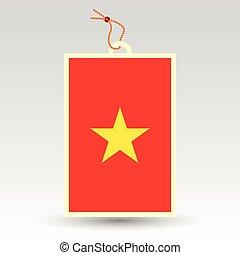 vietnamese price tag - vector simple vietnamese price tag -...