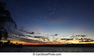 Sunset at Lake Paranoa - A time-lapse video of the sunset at...