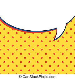 Comic talk bubble on yellow background illustration design.