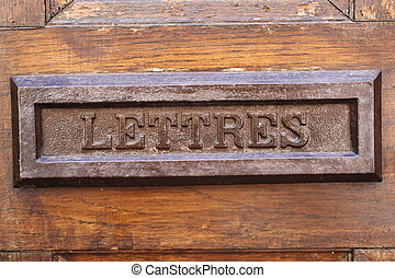 Letterbox - Old letterbox in France
